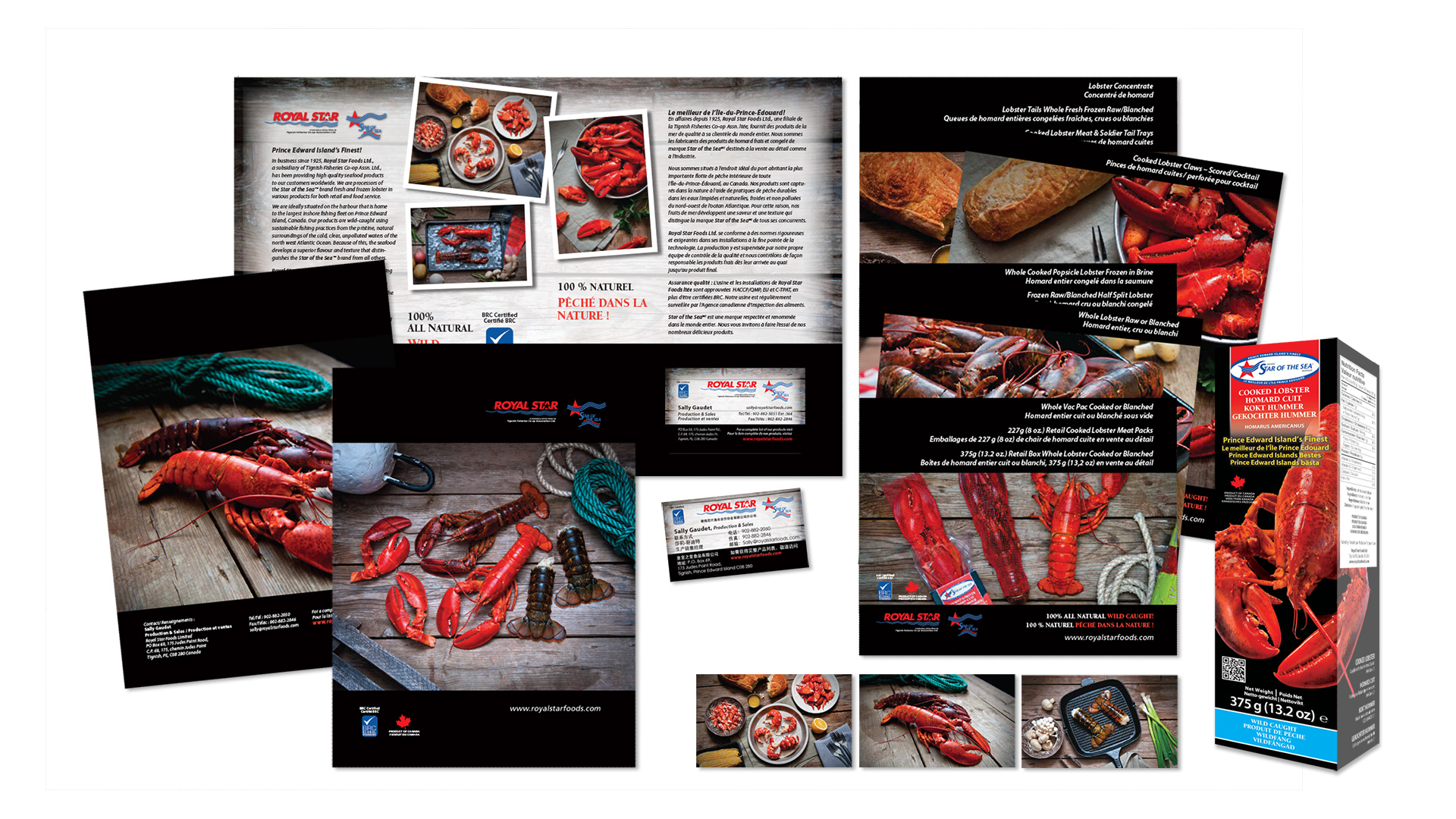 Royal Star Foods Marketing Collateral