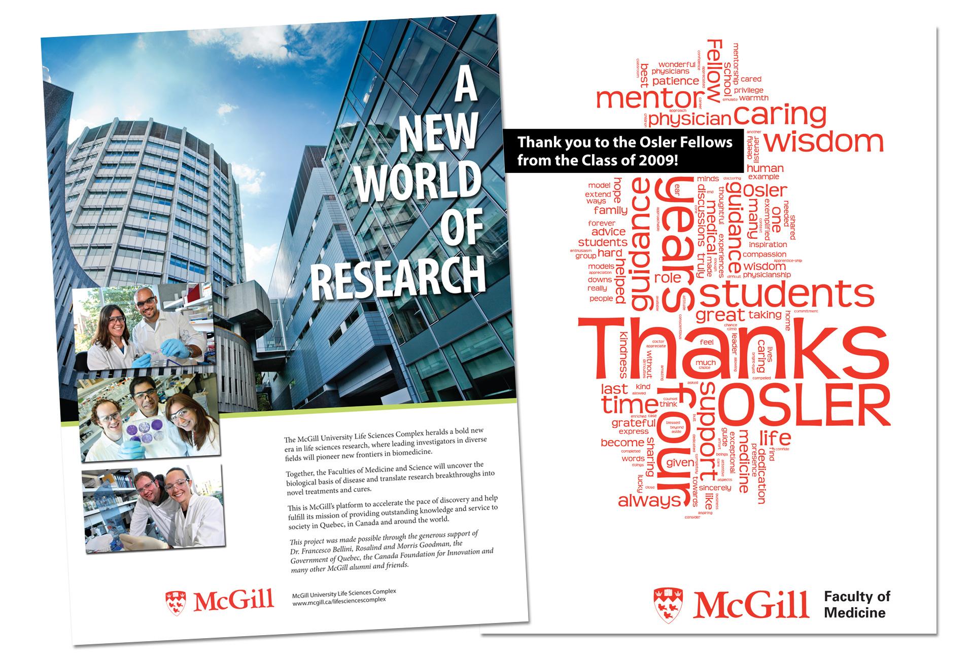 McGill Life Sciences Complex ad